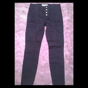 ANTHROPOLOGIE SKINNY BUTTON FLY EXPOSED PANTS